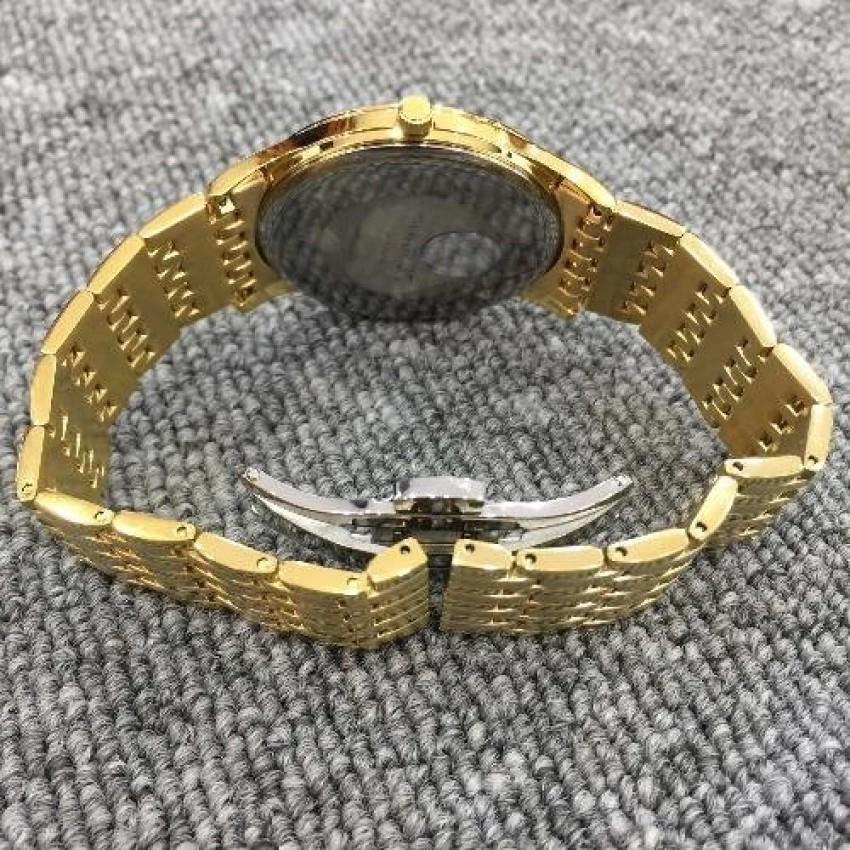 Đồng hồ nam dây kim loại mặt kính sapphire chống xước Sunrise DM778MK
