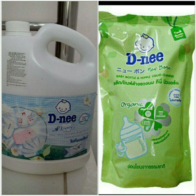 Combo Nước giặt xả dnee 3000ml và nước rửa bình dnee 600ml