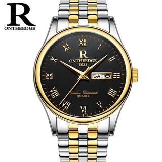 Đồng hồ nam dây thép Ontheedge 020 (fullbox, demi vàng-đen) thumbnail