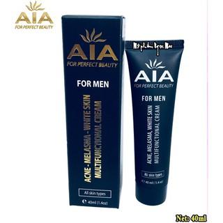 Kem trị mụn dành cho nam AIA Cosmetics xóa thâm mờ sẹo ngăn nhờn trắng da se khít lỗ chân lông – 40ml