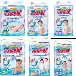 Tã quần dán Goon Slim kích cỡ (NB48 S44 M38 M32 L56 L32 XL50 thumbnail