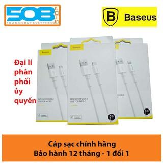 Cáp sạc nhanh Baseus Mini White siêu bền( Type C/ Lightning/ Micro, Quick Charging & Sync Data TPE Cable )