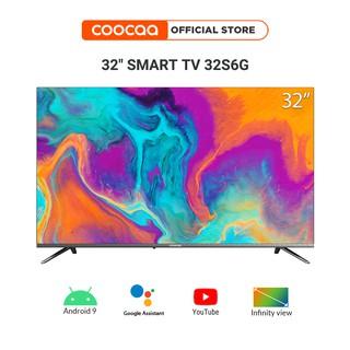 SMART TV HD Coocaa 32 inch - Android 9.0 TV - Wifi - viền mỏng - Model 32S6G - tivi giá rẻ Chân viền kim loại