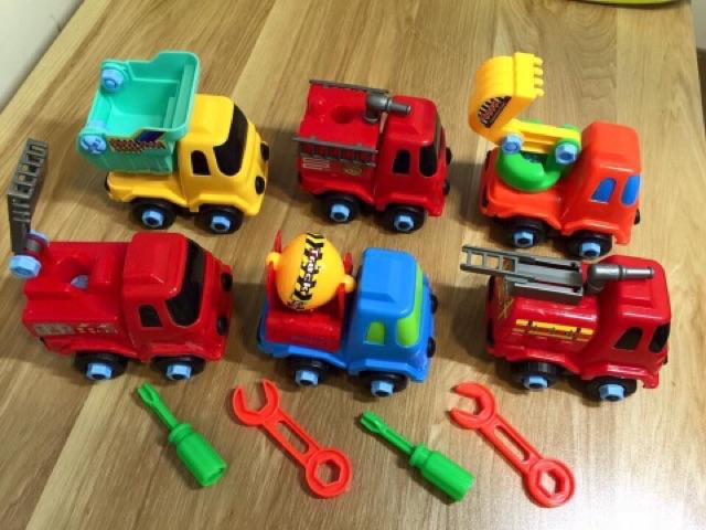 [Mã TOYJAN hoàn 20K xu đơn 50K] Bộ 6 xe ô tô tháo lắp cho bé