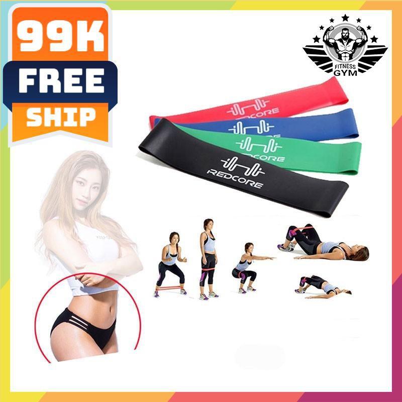 FREESHIP🎁 Dây tập mông miniband ❤️giá rẻ❤️ Dây tập gym REDCORE | hn & tphcm
