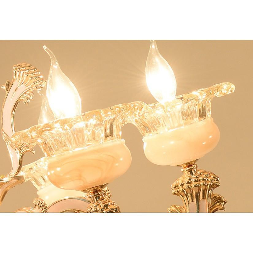 Đèn chùm MONSKY LILIA pha lê 8 tay cao cấp - Tặng kèm 8 bóng LED nến chuẩn xịn