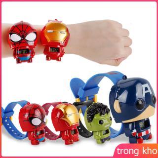 Marvel's The Avengers Children's Toy Watch Spider-Man Iron Man Captain America Hulk