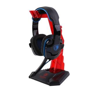 Universal Gaming Gamer Headphone Headset Hanger Bracket Holder Rack Stand-Red
