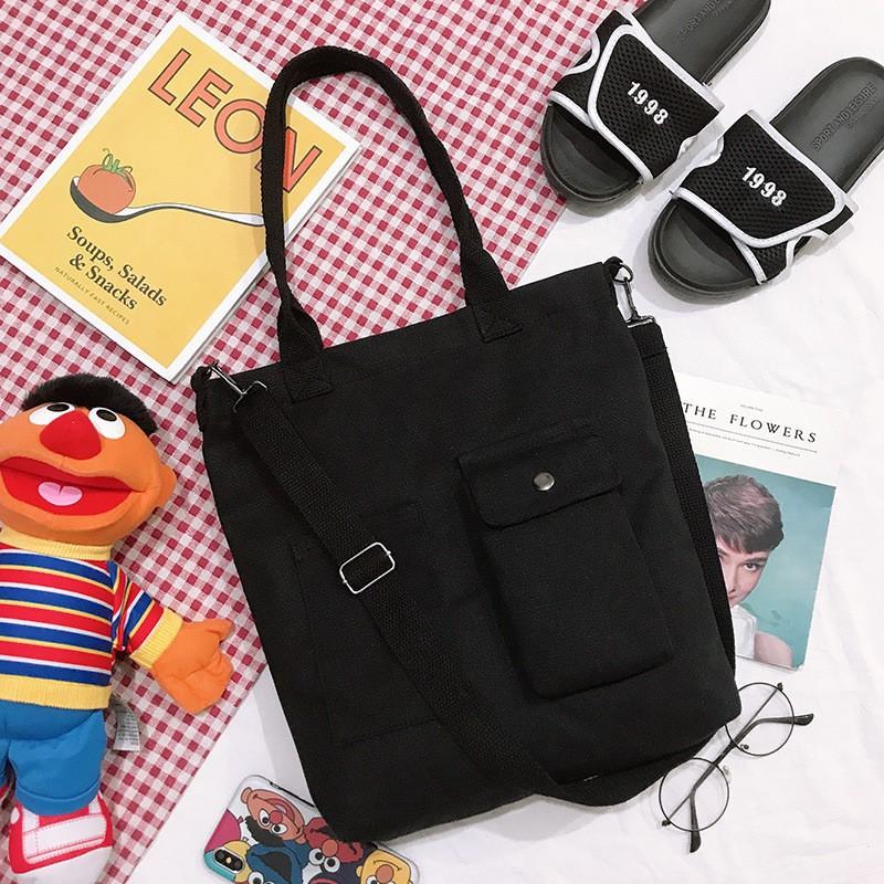 Túi xách nữ 💖Túi tote vải kẹp nách phong cách Hàn Quốc TS86