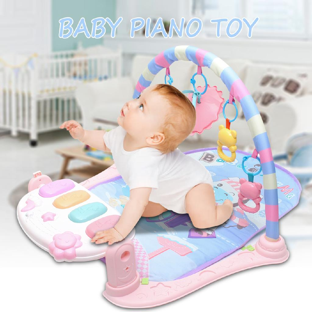 Infant Baby Fitness Gym Foot Playmat Piano Music Lullaby Kick Blanket Soft Mat