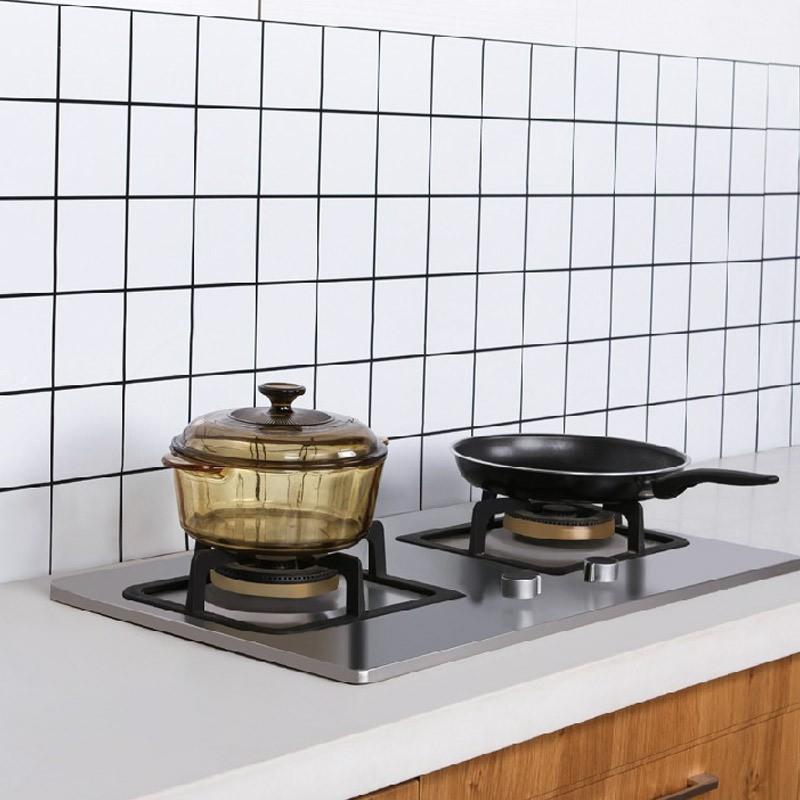 1 mét dán bếp tráng nhôm họa tiết đơn giản khổ 60cm keo sẵn bóc dán