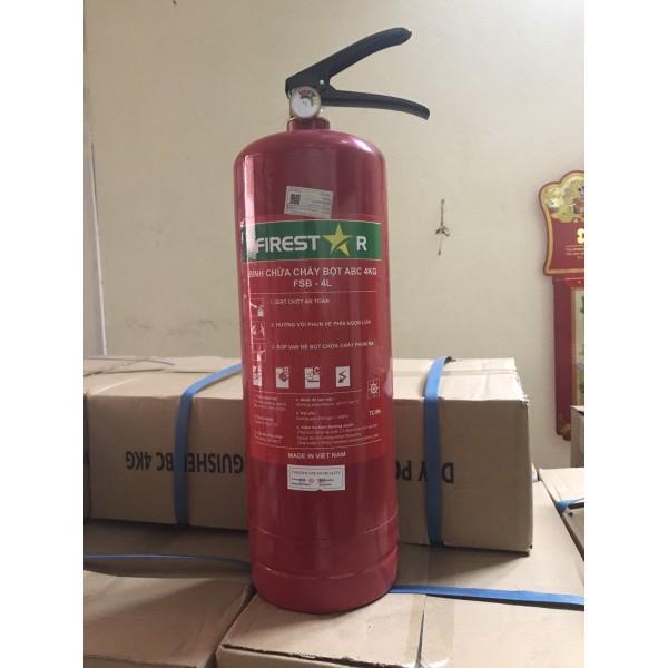 Bình Bột Chữa Cháy ABC 4kg MFZL4 có tem kiểm định
