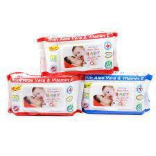 [Mã 267FMCGSALE giảm 8% đơn 500K] Gói khăn ướt Baby Vitamin E cho bé (100 tờ) Giá Tốt