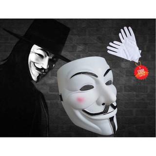 Mặt nạ hacker anonymous (Trắng cơ bản)