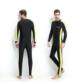 Quần áo lặn biển, đi bơi dày 1mm cho nam màu Vàng chống nắng, chống tia UV, chống tia cực tím POPO Collection