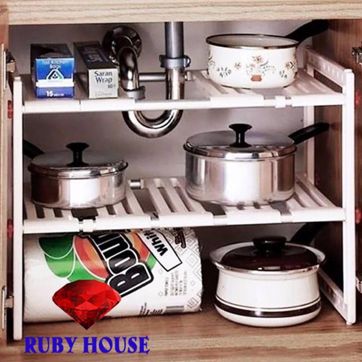 Kệ gầm bếp đa năng INOX 304 HÀNG LOẠI 1, kệ đựng dụng cụ nhà bếp, để giày dép, đồ dùng nhà tắm tiên lơi-Ruby House