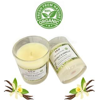 COMBO 2 Nến Thơm Tinh Dầu Dừa – Vanilla 100% Organic