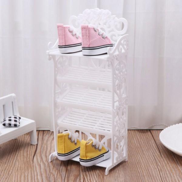 Giá để giày búp bê mini xinh xắn