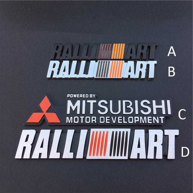 Miếng dán logo 3D trang trí xe ô tô Mitsubishi