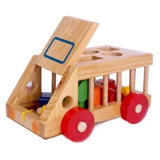Yêu Thích+[Mã TOYJAN hoàn 20K xu đơn 50K] Xe thả hình khối - đồ chơi giáo dục an toàn cho bé