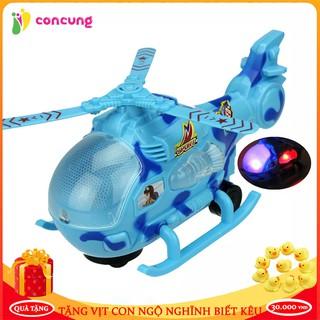 Đồ chơi trẻ em, Đồ chơi máy bay trực thăng dành cho bé có đèn và nhạc tự xoay khi gặp chướng ngại vật thumbnail