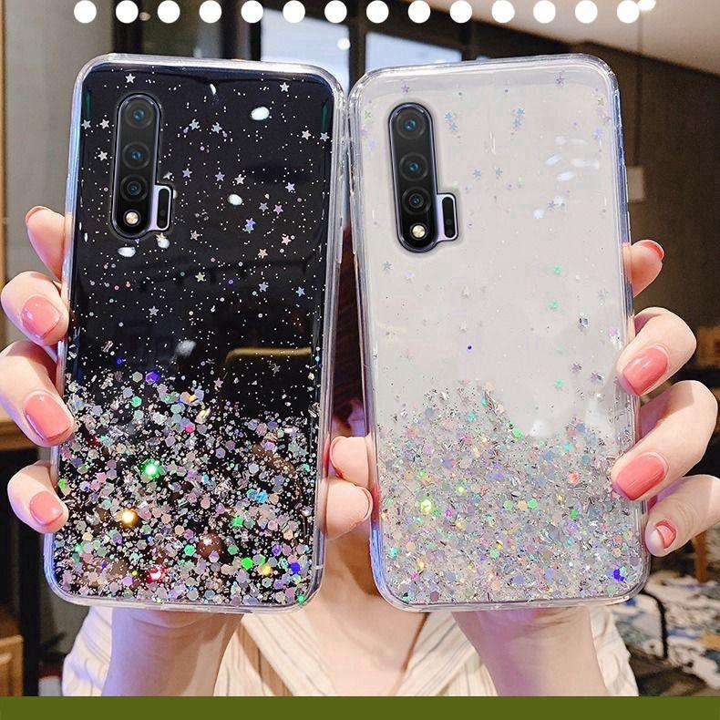 Samsung A31 A21S A11 M11 A51 A71 A01 M31 A70 A50S Luxury Sequins Soft Silicone Phone Case