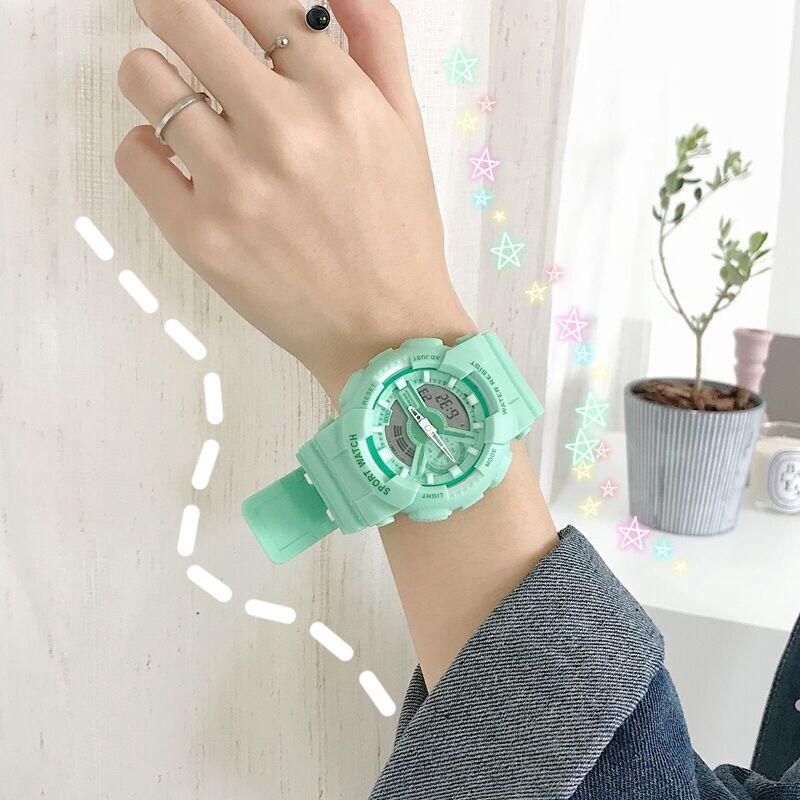 นาฬิกาข้อมือ matcha สไตล์เรียบง่ายสําหรับผู้หญิง