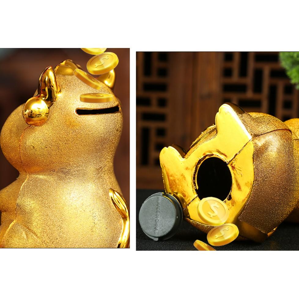 Trâu vàng đựng tiền tiết kiệm - ống đựng tiền lì xì  cho bé – linh vật tết Tân Sửu 2021