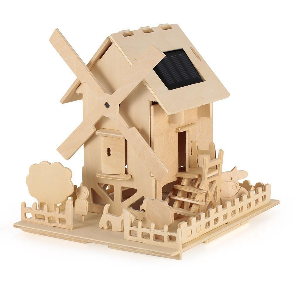 Bộ Mô hình lắp ghép cối xay gió 3D bằng gỗ