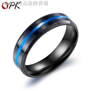 1 Nhẫn Thép Titan Màu Xanh Cho Nam