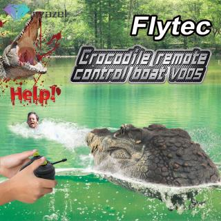 Flytec V005 2.4GHz Simulation RC Crocodilian Boat Remote Control Speedboat Pool Spoof Toy