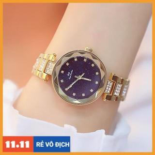 [Hàng chính hãng] [HÀNG CHÍNH HÃNG] Đồng hồ nữ Bee Sister 1571 dây thép ko gỉ mặt 3D