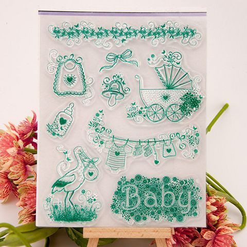 Clear stamp - Set con dấu trong suốt Baby CST006