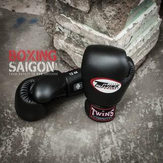 Găng tay Boxing Muay Thai Twins chính hãng Thái Lan ( Đen )