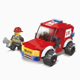 Đồ chơi xếp hình xe cứu hỏa