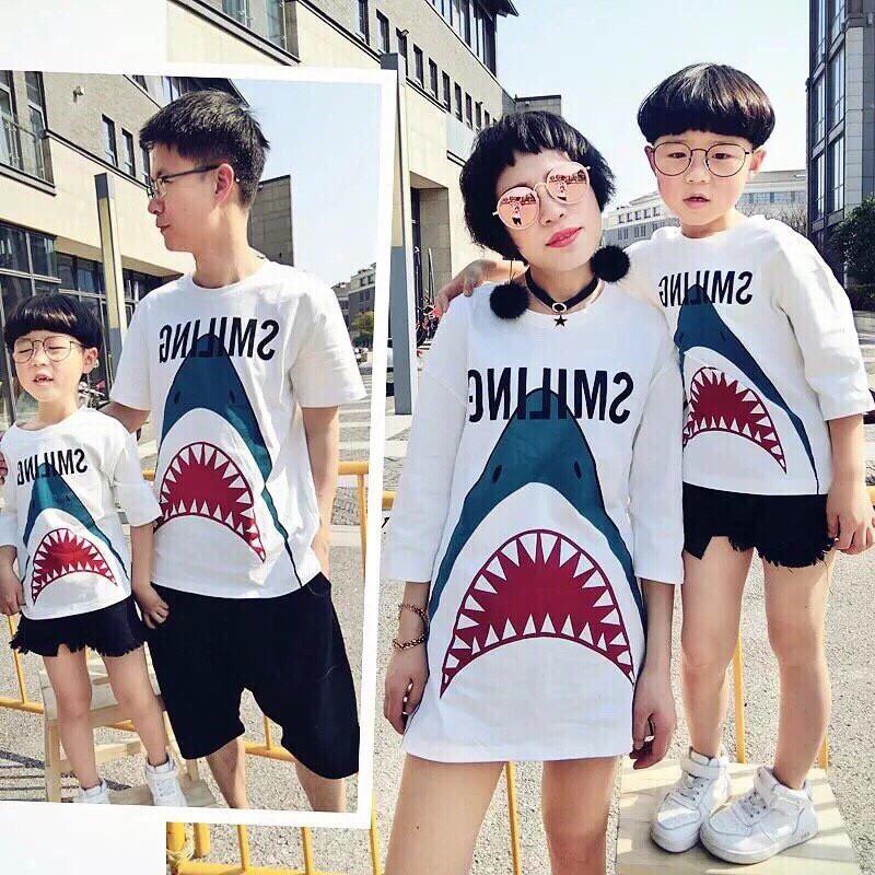 [Nhập mã WAFALUONG giảm 15%] Set áo gia đình cá mập