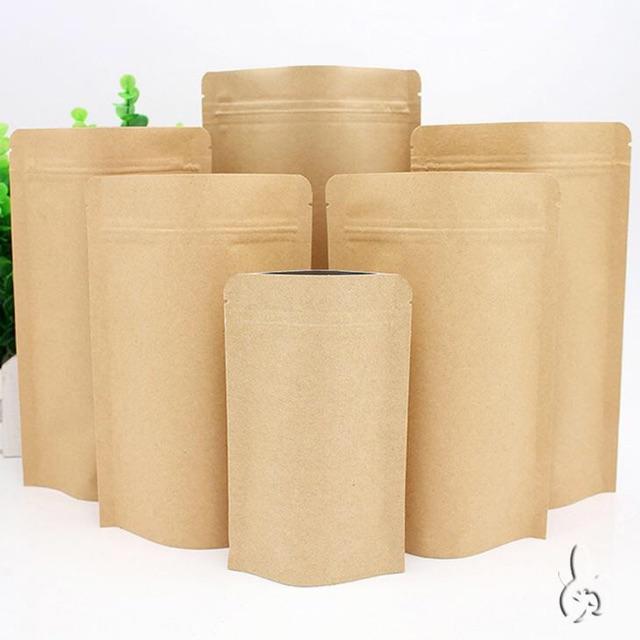 1kg Túi zíp giấy kraft 2 mặt kín