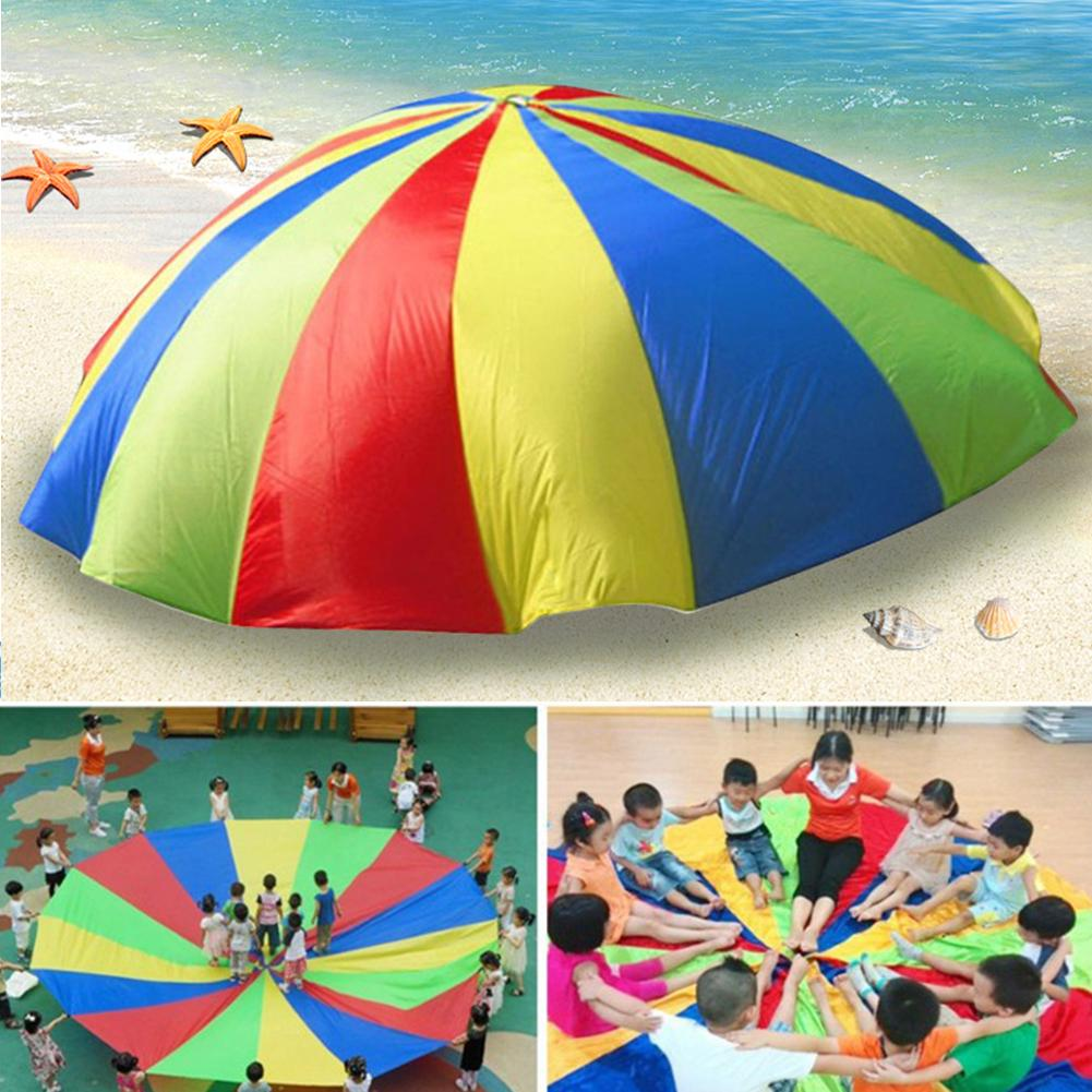 Rainbow parachute Children games Kindergarten parent-child activities Early education pull