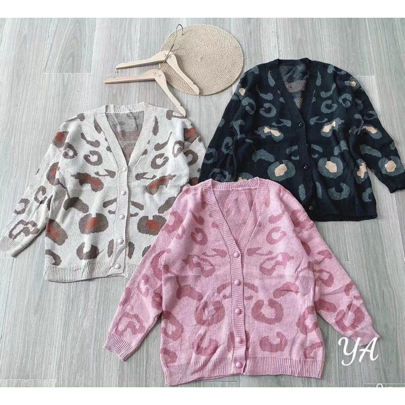 áo khoác len cardigan da beo hot hit