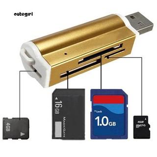 Đầu đọc thẻ nhớ SD TF MMC SDHC cổng USB 2.0 đa năng