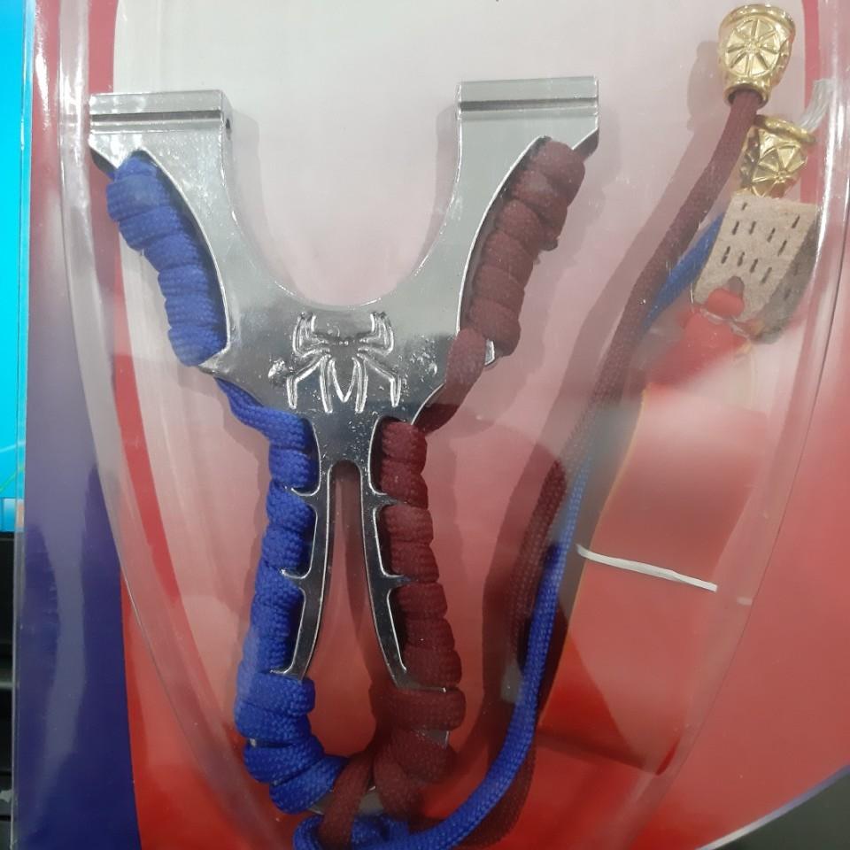 Ná thun NHỆN kim loại - ná cao su dây dẹp thân kim loại Chạc 7.5 dây gài ( Đảm...