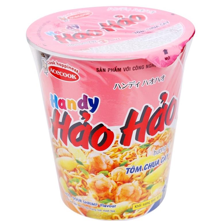 Mì ly Hảo Hảo Handy Tôm chua cay 67g