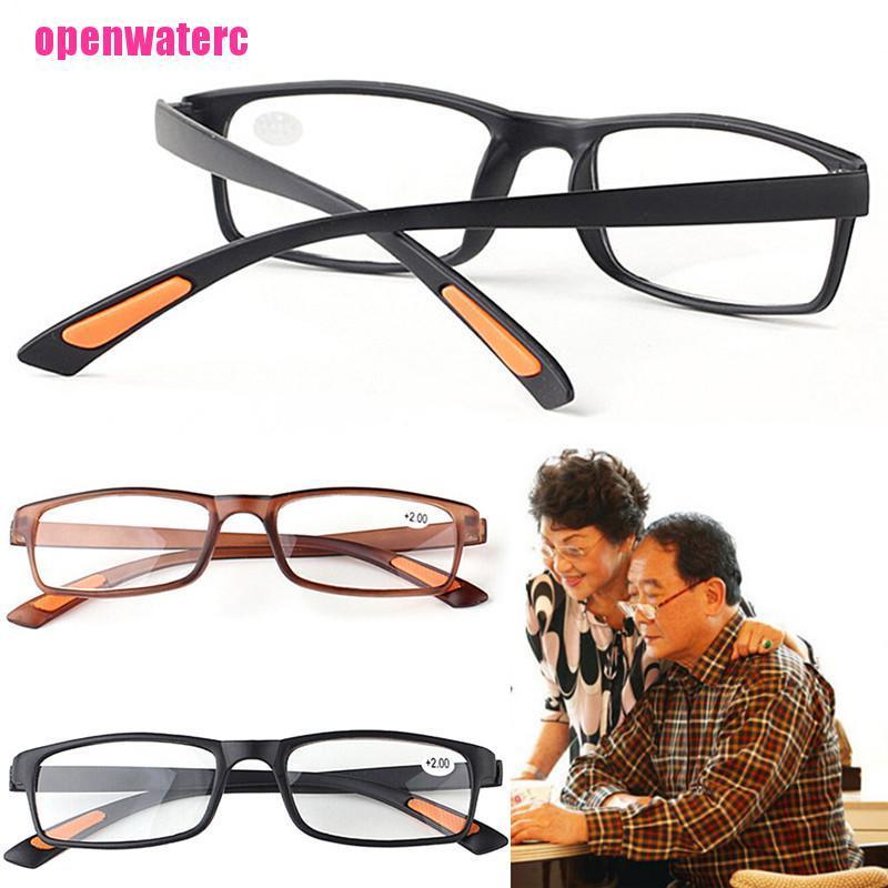 OPE Square Framed Clear Lens Reading Glasses Unisex Women Men