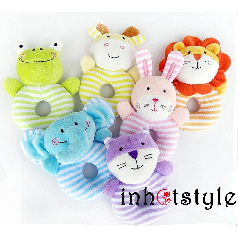LLL-Soft Baby Infant Rattles Plush Animal Stroller Bed Hanging Bell Play Toys