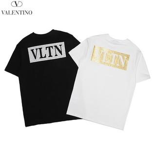 Fashion VLTN Letter Print Plus size T-shirt Casual Tees