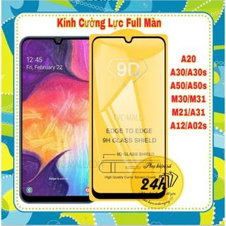 Kính Cường Lực 9D Dành Cho Samsung A12 / A20S / A31 / A30S / A50S / A20 / A30 / A50 / M30 / M31 Full Màn Hình Full Keo