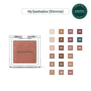 Phấn mắt dạng nhũ nhẹ innisfree My Eyeshadow Shimmer 2.2g