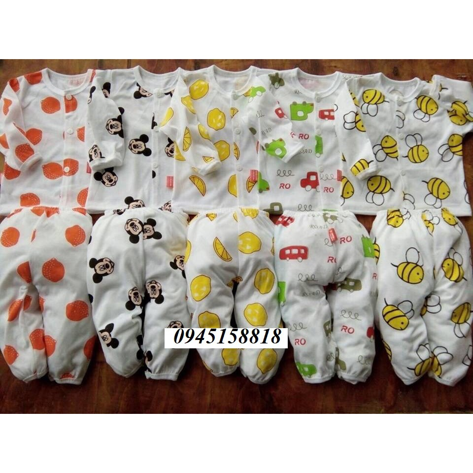 Quần áo trẻ em - set 5 bộ dài oto cho bé từ 3-15kg