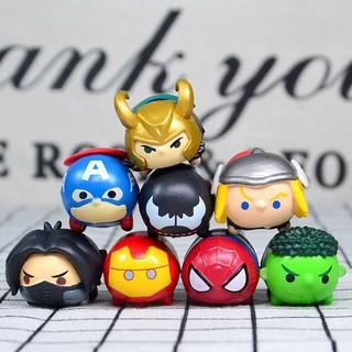 Set 8pcs mô hình đồ chơi nhân vật phim Avenger đáng yêu
