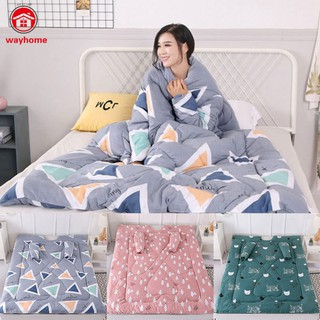 Lazy Sleeping Quilt Blanket with Sleeves Thick Warm Winter Home Bedding